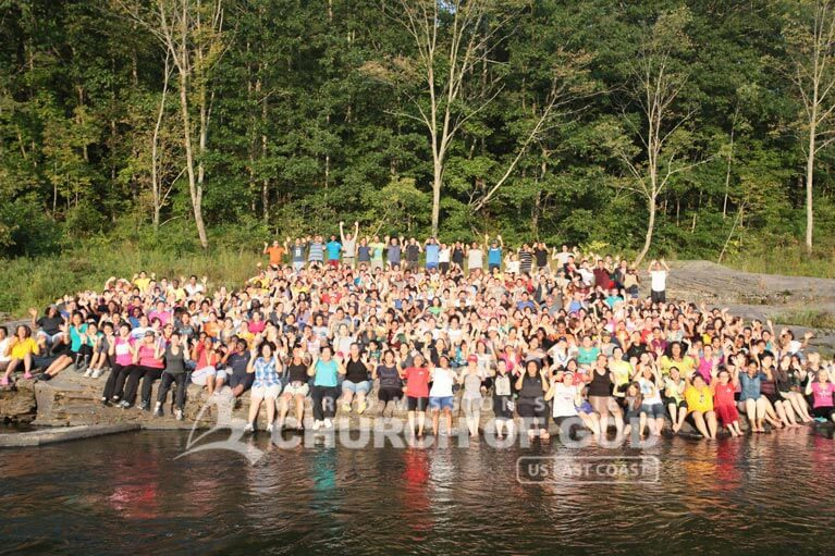 Group photo of World Mission Society Church of God members during the 2013 Labor Day Weekend Summer Camp
