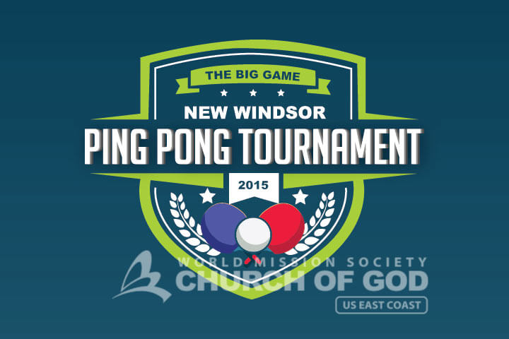 World Mission Society Church of God Ping Pong Tournament 2015 logo