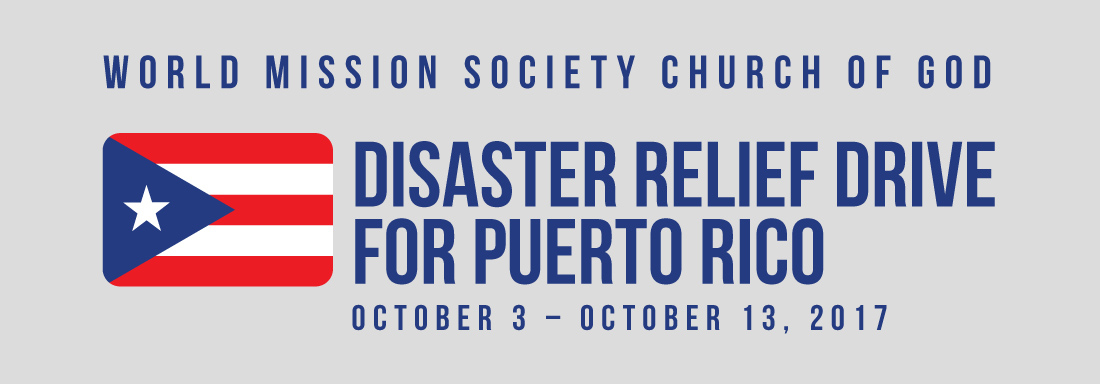 World Mission Society Church of God Relief Drive for Puerto Rico
