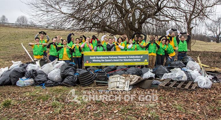 World Mission Society Church of God Kentucky Louisville Neighborhood Cleanup