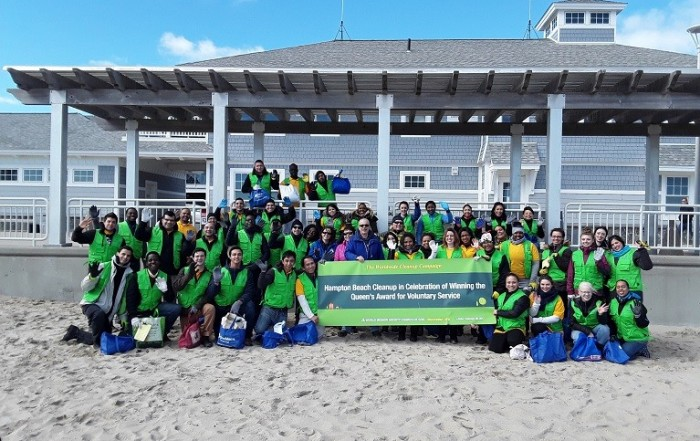 world mission society church of god, wmscog, church of god, church of god in new hampshire, hampton beach cleanup, yellow shirt volunteers, environmental protection