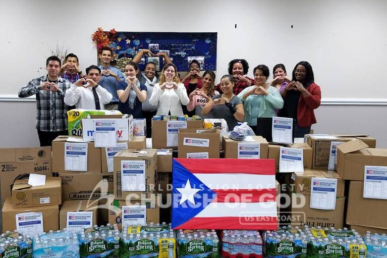 Puerto Rico, Disaster Relief, drive, Hurricane Maria, World Mission Society Church of God, WMSCOG, donations, food, packages, support, volunteer, volunteerism, PR, Connecticut, NH, New Hampshire