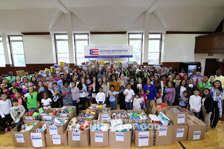 Puerto Rico, Disaster Relief, drive, Hurricane Maria, World Mission Society Church of God, WMSCOG, donations, food, packages, support, volunteer, volunteerism, PR, Connecticut, CT, Middletown
