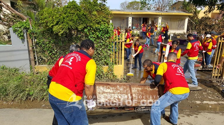 Puerto Rico, Disaster Relief, drive, Hurricane Maria, World Mission Society Church of God, WMSCOG, donations, food, packages, support, volunteer, volunteerism, PR