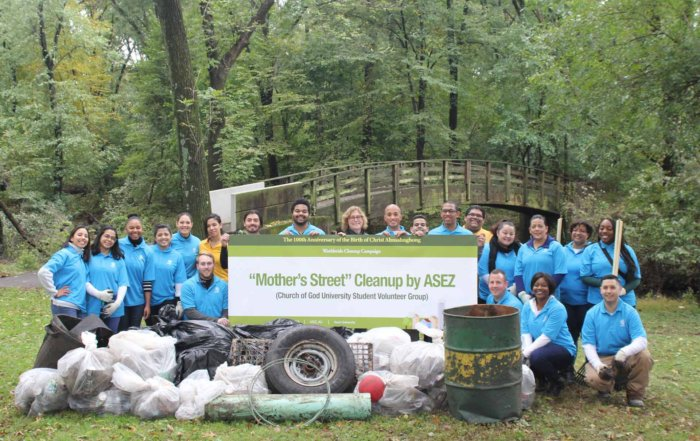 ASEZ, wmscog, world mission society church of god, NJ, Union County, Hillside Mountainside, cleanup, reduce crime, volunteerism, university, Mother's Street, Contant Park