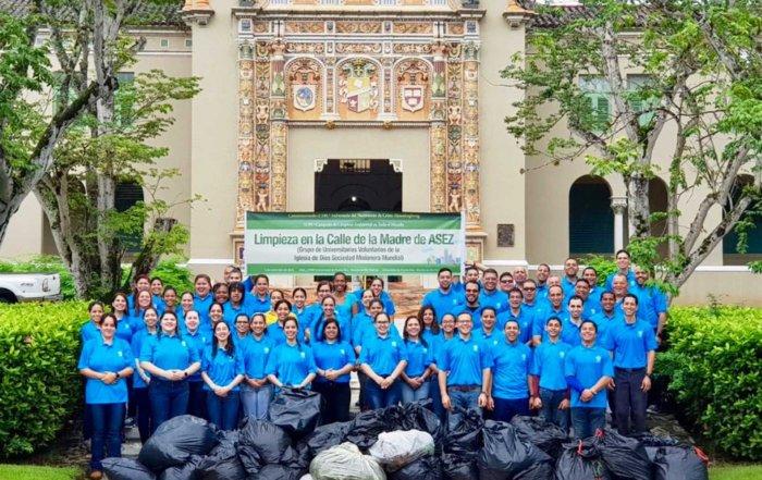 ASEZ, wmscog, world mission society church of god, PR, Puerto Rico, University of Puerto Rico, Rio Piedras Campus, cleanup, reduce crime, volunteerism, UPR