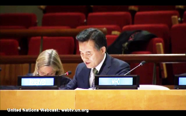 World Mission Society Church of God General Pastor speaking at UN CERF High Level Conference