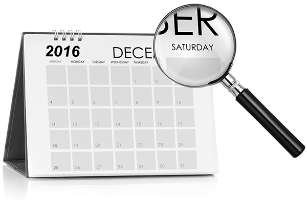 image of calendar with magnifying glass hovering over Saturday for World Mission Society Church of God Sabbath Day page