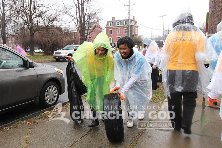 World Mission Society Church of God, WMSCOG, New Windsor, Newburgh, Orange County, Hudson Valley, Cleanup, ASEZ, Reduce Crime, Mayor Harvey, Mother's Street
