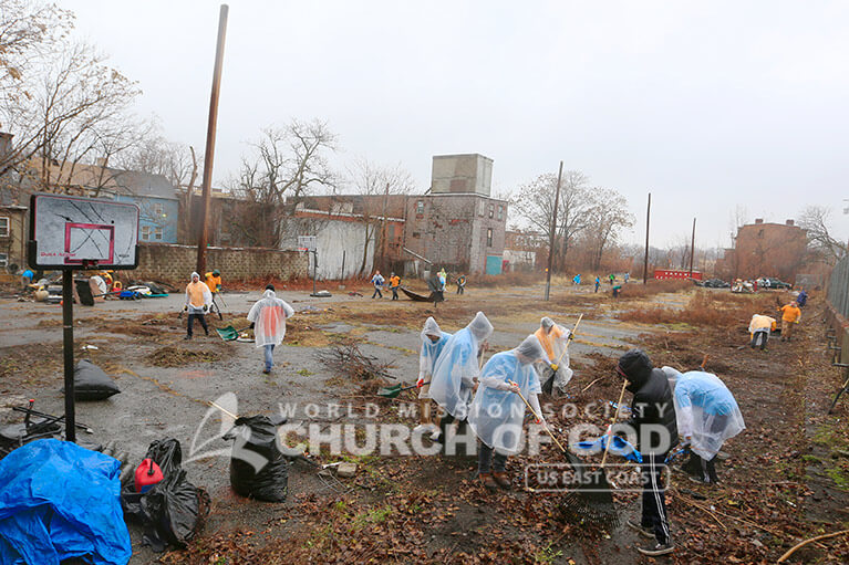 World Mission Society Church of God, WMSCOG, New Windsor, Newburgh, Orange County, Hudson Valley, Cleanup, ASEZ, Reduce Crime, Mayor Harvey, Mother's Street
