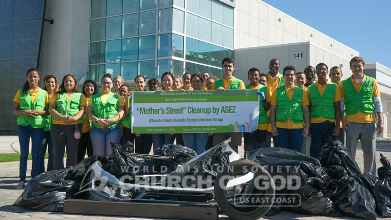 wmscog, world mission society church of god, orlando, fl, cleanup, asez, reduce crime, central, volunteerism, mother's street, UCF, University of Central Florida, Seminole State College, Valencia College, Rollins College, Full Sail University