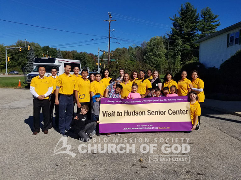 Entertainment Event for Laurel Place residents, world mission society church of god in hudson, wmscog new hampshire, east coast volunteer service day 2016