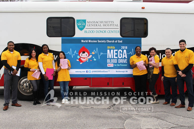 wmscog, world mission society church of god, MA, massachusetts, boston, westborough, blood drive, volunteerism, mega, Passover