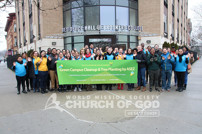 ASEZ, World Mission Society Church of God, WMSCOG, Brooklyn, NY, New York, reduce crime, UN, United Nations, Sustainable Development Goals, SDGs, tree stewardship, College, University