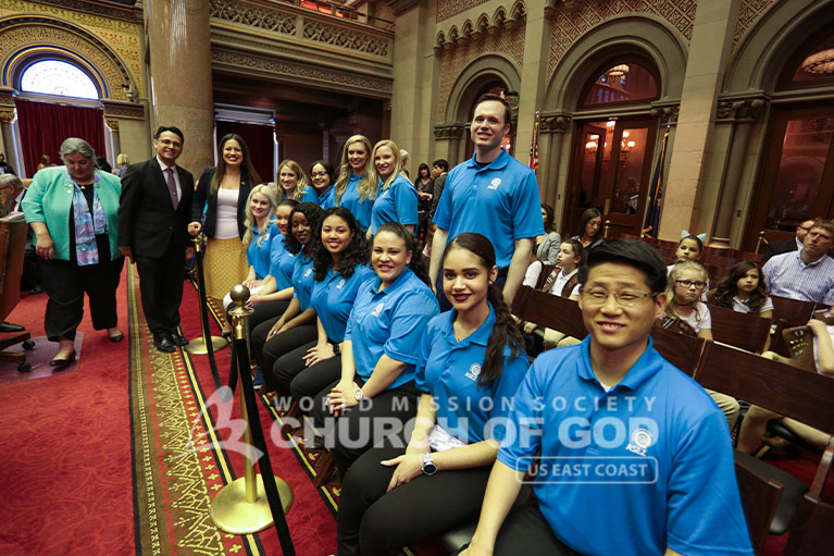 ASEZ volunteers at the NYS Assembly Session