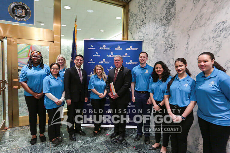 ASEZ volunteers with New York State Assemblyman John T. McDonald III