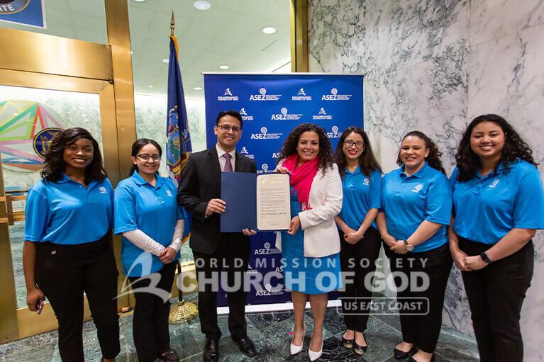 ASEZ volunteers with NY State Assemblywoman Nathalia Fernandez