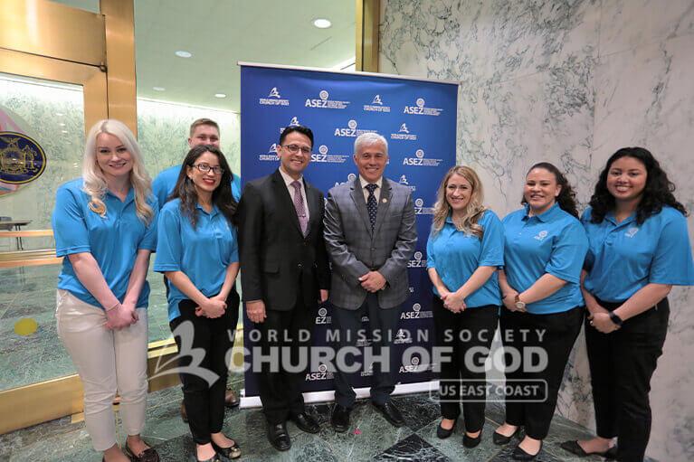 ASEZ volunteers with NY State Senator Robert Antonacci