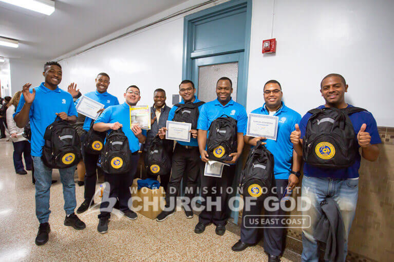 ASEZ participants received certifications and backpacks after completing the NYS Citizen Preparedness Training.