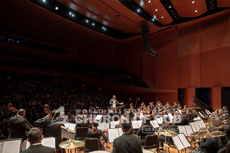 Church of God Orchestra performing at the Lincoln Center Alice Tully Hall