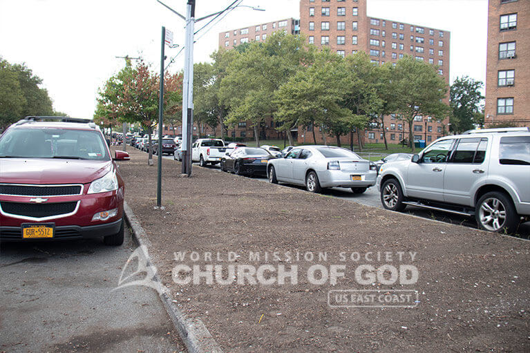 The scene after ASEZ cleaned up Randall Ave in the Bronx, NY