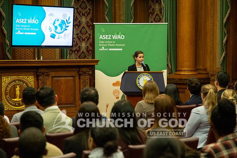 Rachel Atcheson, Deputy Strategist for the Brooklyn Borough President, speaking at the seminar.