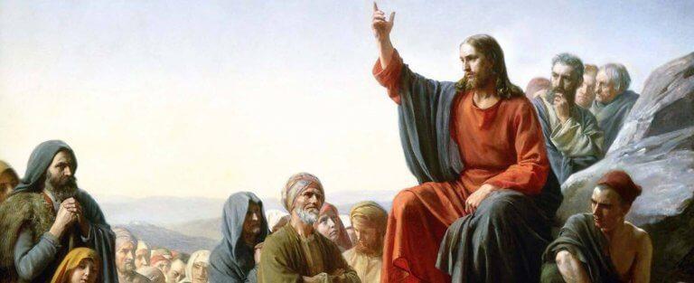 Jesus teaching on the mount